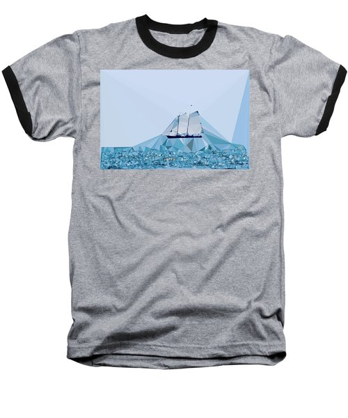 Schooner, Abstracted Baseball T-Shirt by Sandy Taylor