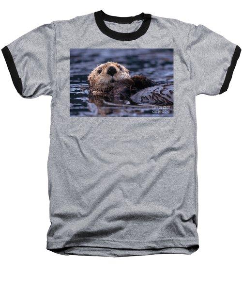 Sea Otter Baseball T-Shirt by Yva Momatiuk and John Eastcott and Photo Researchers