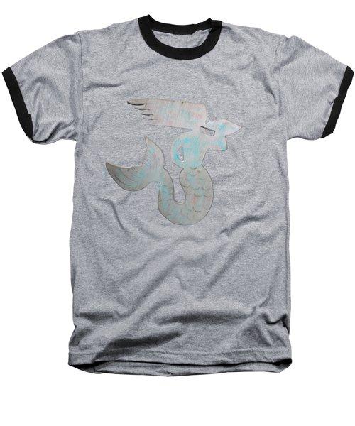 Sea Shell Mermaid Baseball T-Shirt by Dale Powell