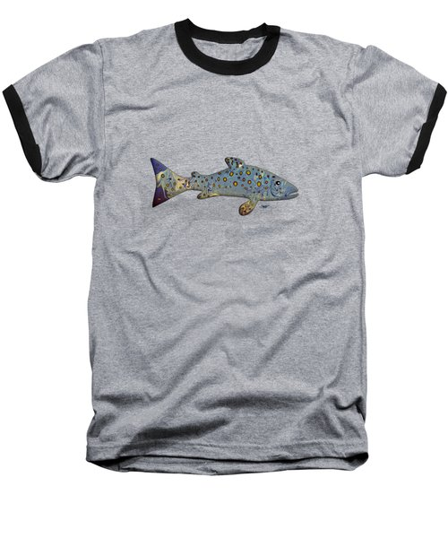 Sea Trout Baseball T-Shirt by Mikael Jenei