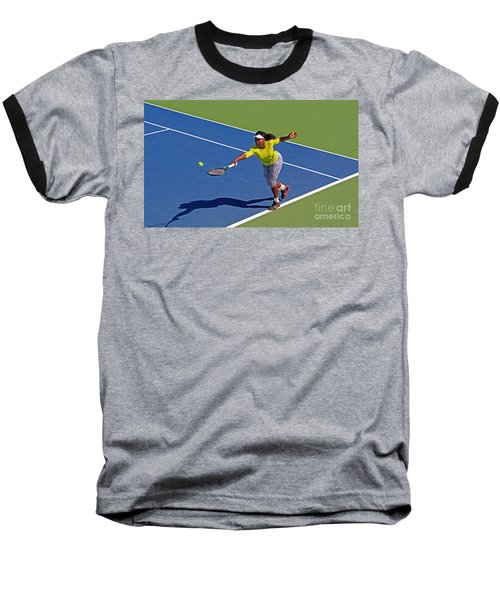 Serena Williams 1 Baseball T-Shirt by Nishanth Gopinathan