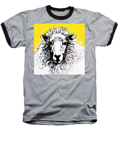 Sheep Baseball T-Shirt by Tiffany Hunter
