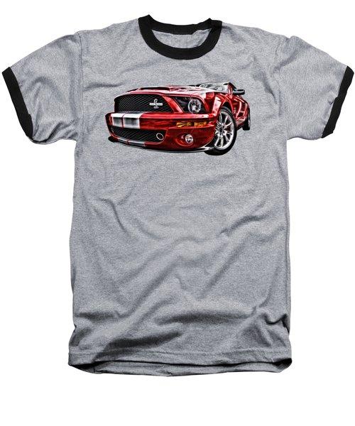 Shelby On Fire Baseball T-Shirt by Gill Billington
