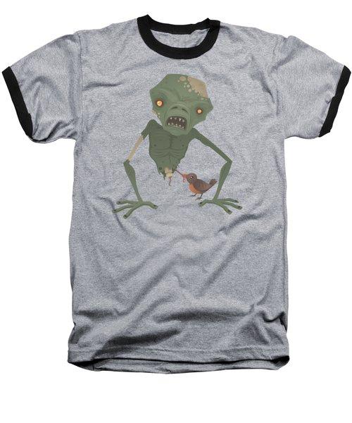 Sickly Zombie Baseball T-Shirt by John Schwegel