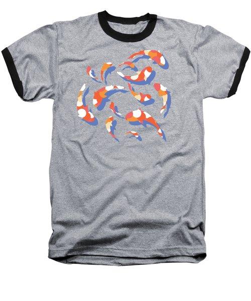 Koi Baseball T-Shirt by Lucy Niedbala