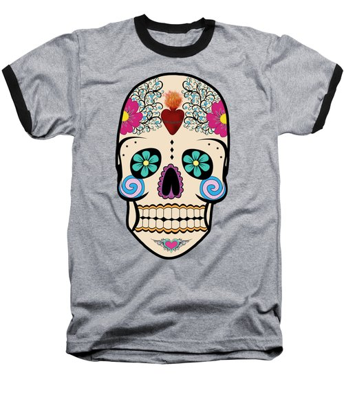 Skeleton Keyz Baseball T-Shirt by LozMac