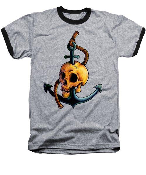 Skullchor Baseball T-Shirt by Vicki Von Doom