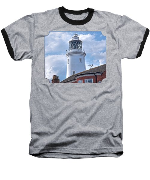 Sky High - Southwold Lighthouse Baseball T-Shirt by Gill Billington