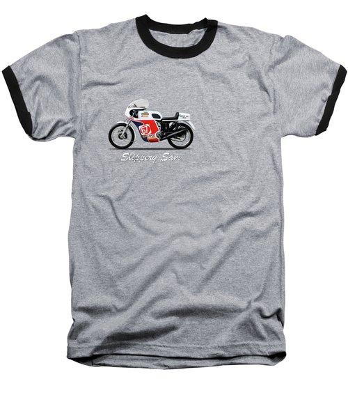 Slippery Sam Production Racer Baseball T-Shirt by Mark Rogan