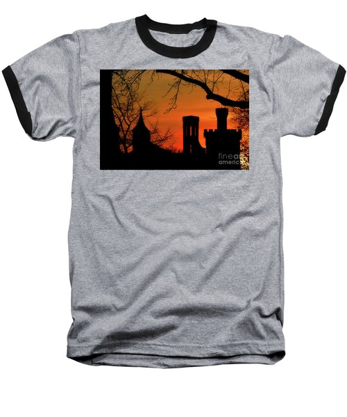 Smithsonian Castle Baseball T-Shirt by Luv Photography