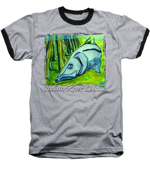 Snook Fish Baseball T-Shirt by W Gilroy