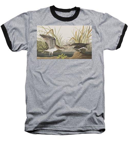 Solitary Sandpiper Baseball T-Shirt by John James Audubon