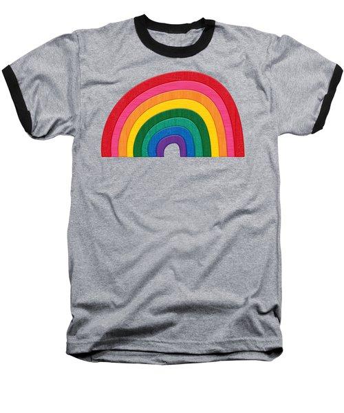 Somewhere Over The Rainbow Baseball T-Shirt by Marisa Lerin