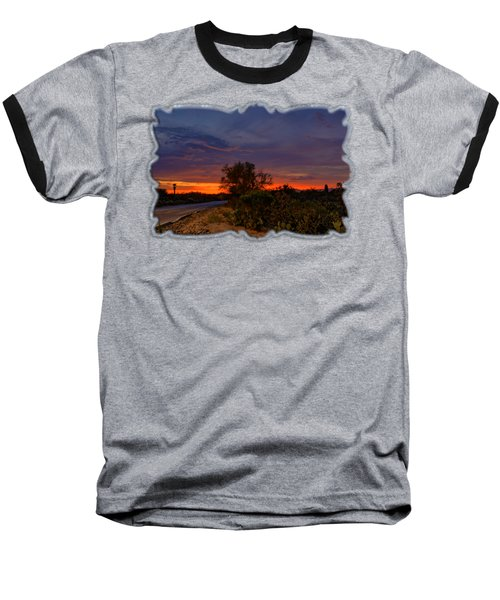 Sonoran Sunset H48 Baseball T-Shirt by Mark Myhaver