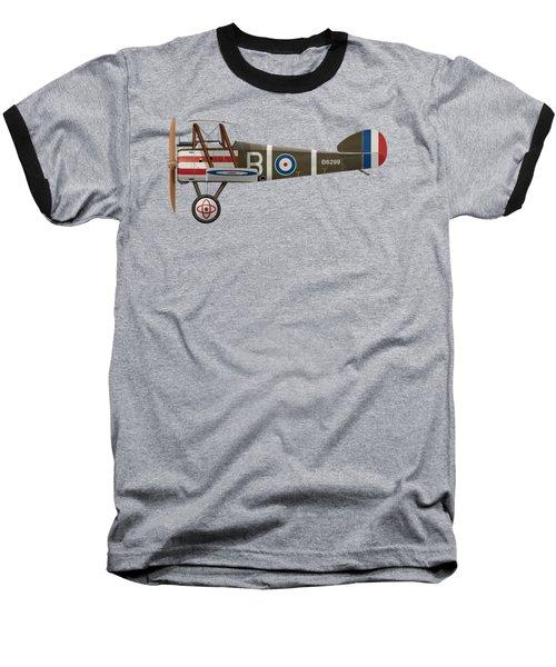 Sopwith Camel - B6299 - Side Profile View Baseball T-Shirt by Ed Jackson