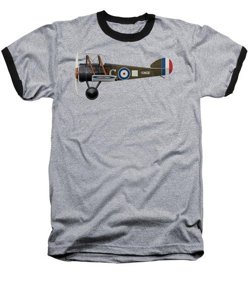 Sopwith Camel - B6344 - Side Profile View Baseball T-Shirt by Ed Jackson