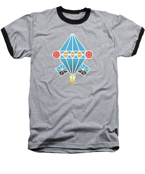 Spacecraft Baseball T-Shirt by Gaspar Avila
