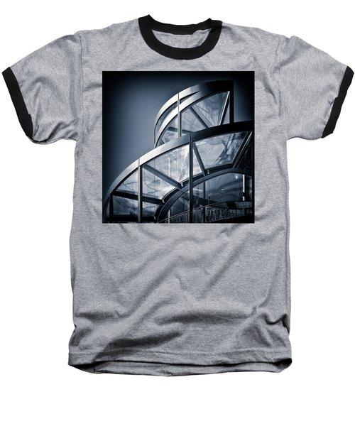 Spiral Staircase Baseball T-Shirt by Dave Bowman