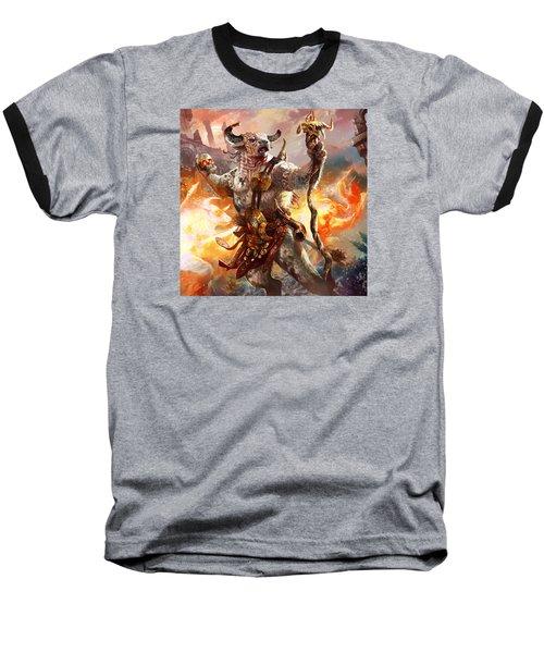 Spiritcaller Shaman Baseball T-Shirt by Ryan Barger
