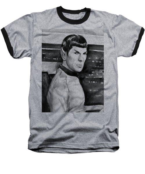 Spock Baseball T-Shirt by Olga Shvartsur