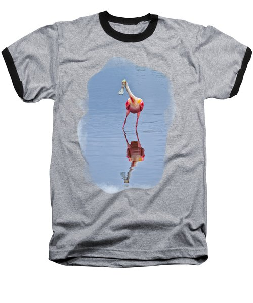 Spoonbill 1 Baseball T-Shirt by John M Bailey