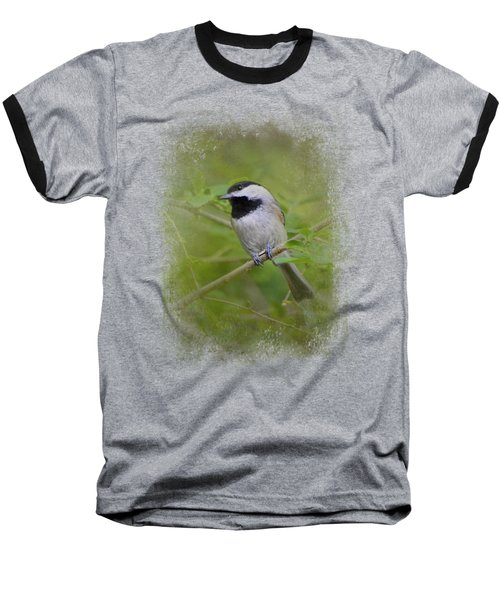 Spring Chickadee Baseball T-Shirt by Jai Johnson