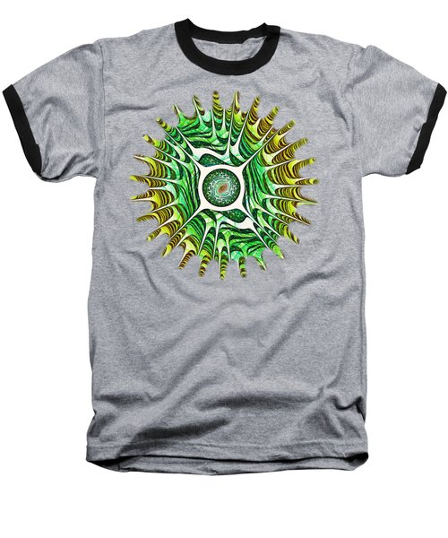 Spring Dragon Eye Baseball T-Shirt by Anastasiya Malakhova