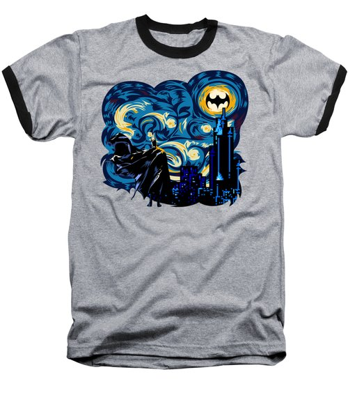 Starry Knight Baseball T-Shirt by Three Second