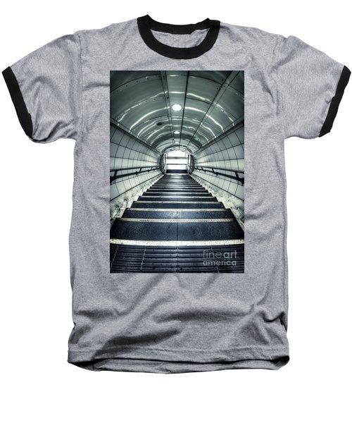 Steppings Tones Baseball T-Shirt by Evelina Kremsdorf