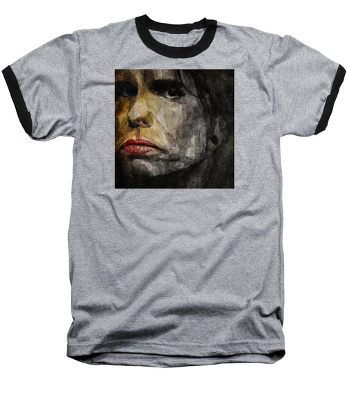 Steven Tyler  Baseball T-Shirt by Paul Lovering
