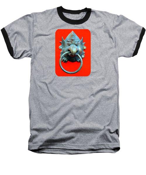Sticky Beak Baseball T-Shirt by Ethna Gillespie