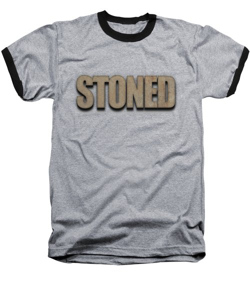 Stoned Tee Baseball T-Shirt by Edward Fielding