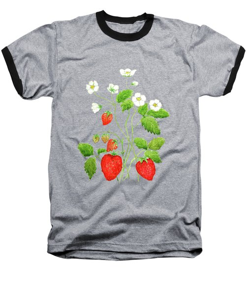 Strawberry  Baseball T-Shirt by Color Color