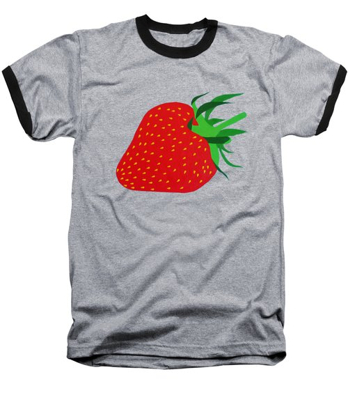 Strawberry Pop Remix Baseball T-Shirt by Oliver Johnston