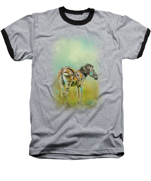 Summer Zebra 1 Baseball T-Shirt by Jai Johnson
