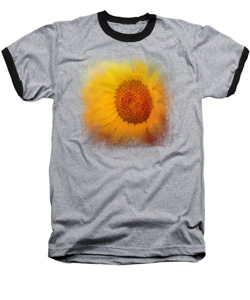 Sunflower Surprise Baseball T-Shirt by Jai Johnson