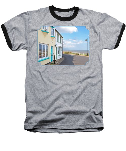 Sunny Outlook - Southwold Seafront Baseball T-Shirt by Gill Billington
