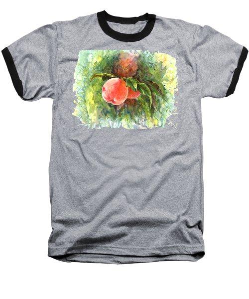 Sunny Peaches Baseball T-Shirt by Irina Viatkina