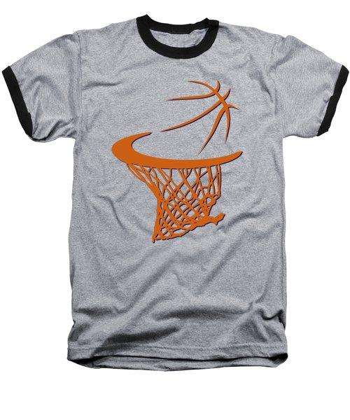 Suns Basketball Hoop Baseball T-Shirt by Joe Hamilton
