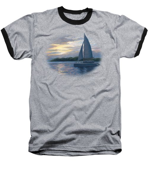 Sunset In Key West Baseball T-Shirt by Lucie Bilodeau