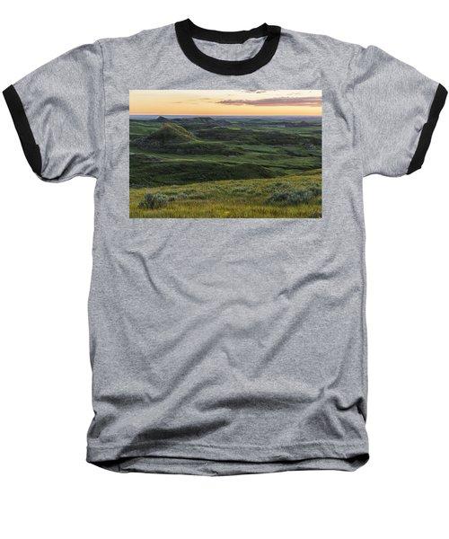 Sunset Over Killdeer Badlands Baseball T-Shirt by Robert Postma