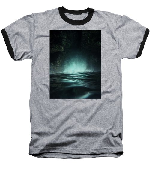 Surreal Sea Baseball T-Shirt by Nicklas Gustafsson