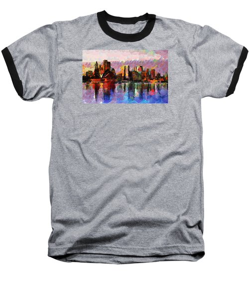 Sydney Here I Come Baseball T-Shirt by Sir Josef - Social Critic - ART