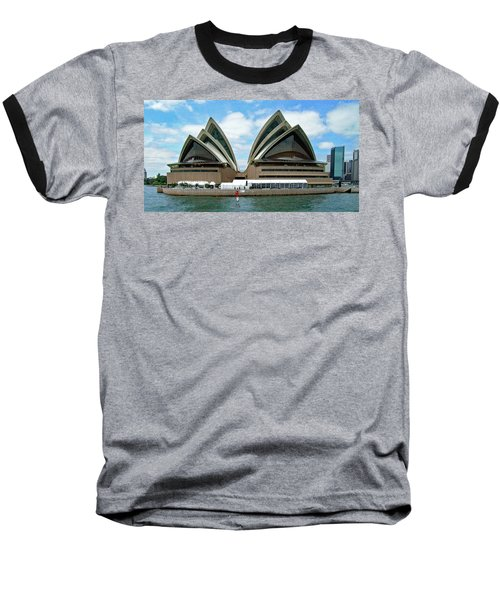 Sydney Opera House No. 1 Baseball T-Shirt by Sandy Taylor