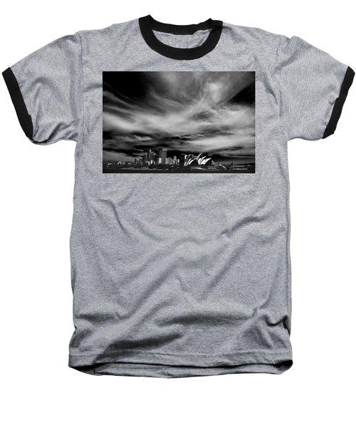 Sydney Skyline With Dramatic Sky Baseball T-Shirt by Avalon Fine Art Photography