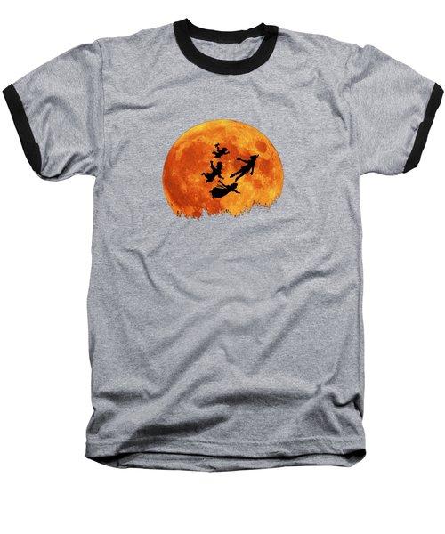 Take Me To Neverland Baseball T-Shirt by Koko Priyanto