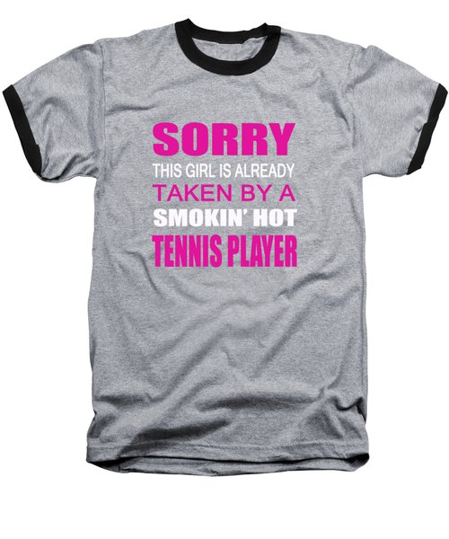 Taken By A Tennis Player Baseball T-Shirt by Sophia