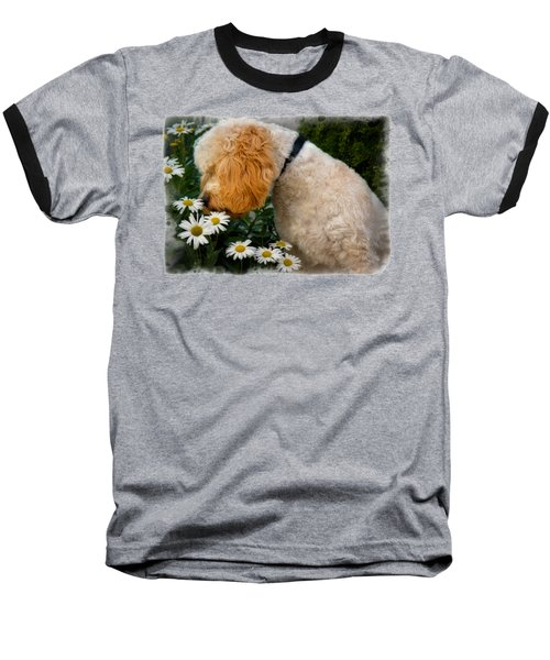 Taking Time To Smell The Flowers Baseball T-Shirt by Susan Candelario