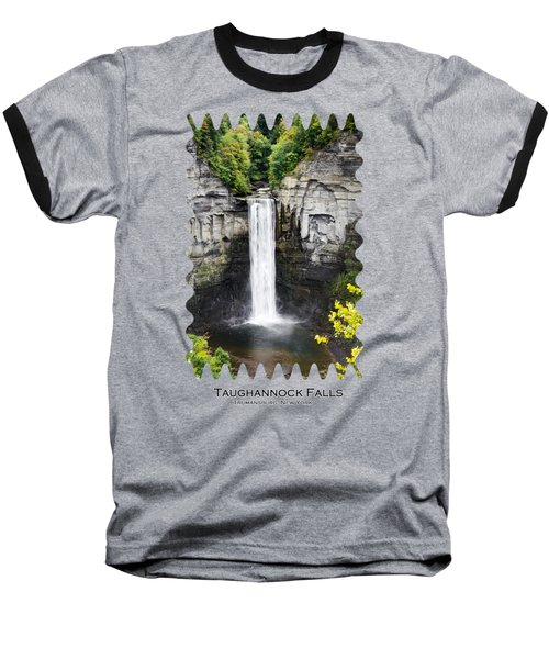 Taughannock Falls View From The Top Baseball T-Shirt by Christina Rollo