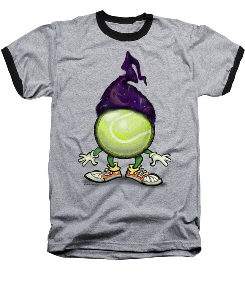 Tennis Wiz Baseball T-Shirt by Kevin Middleton
